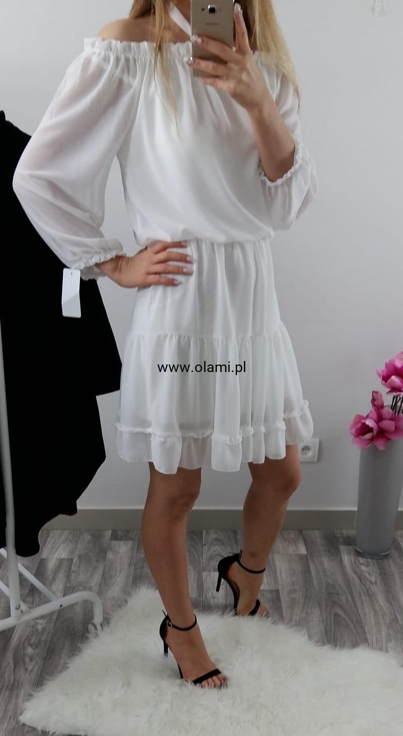 213a9e69da WŁOSKA SUKIENKA BOHO VINTAGE FALBANKI WHITE Olami.pl - Z miłości do mody